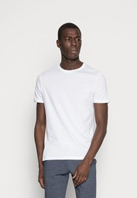 Pier One - 3 PACK - T-shirt basic - white/black/light grey - 1