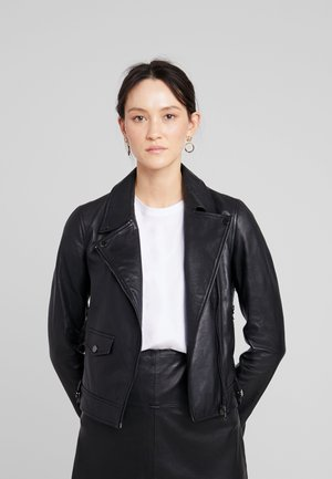 LEVINE - Leather jacket - black