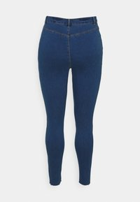 Missguided Plus - LAWLESS SLASH KNEE HIGHWAISTED - Jeans Skinny Fit - blue - 1