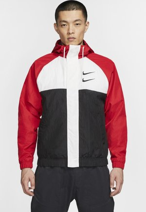Summer jacket - red/white/black