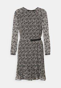 PLISSE DRESS - Day dress - black white mini floral print