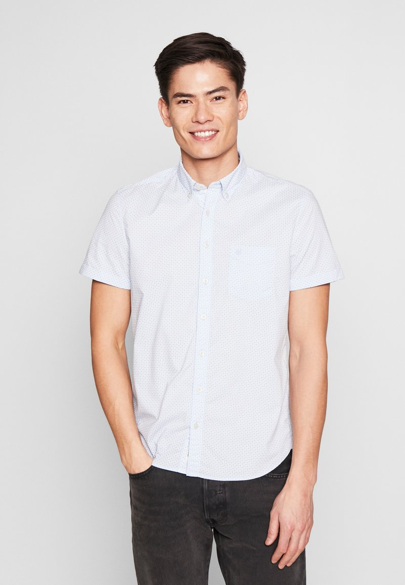 Marc O'Polo - BUTTON DOWN SHORT SLEEVE TURNED UP ONE POCKET FACING AT PLACKET - Shirt - multi/serenity