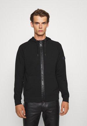 SOEREN - Zip-up sweatshirt - black