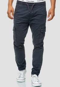 INDICODE JEANS - BROADWICK - Cargo trousers - navy - 0
