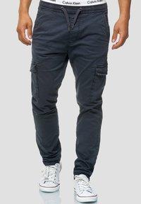 BROADWICK - Cargo trousers - navy
