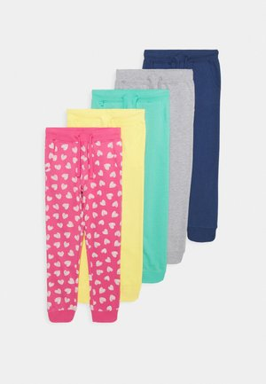 5 Pack - Tracksuit bottoms - pink/grey/turquoise