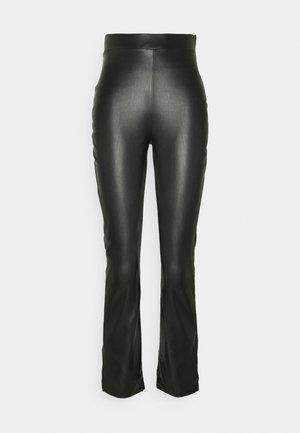 SIDE CUT PANTS - Pantalon classique - black