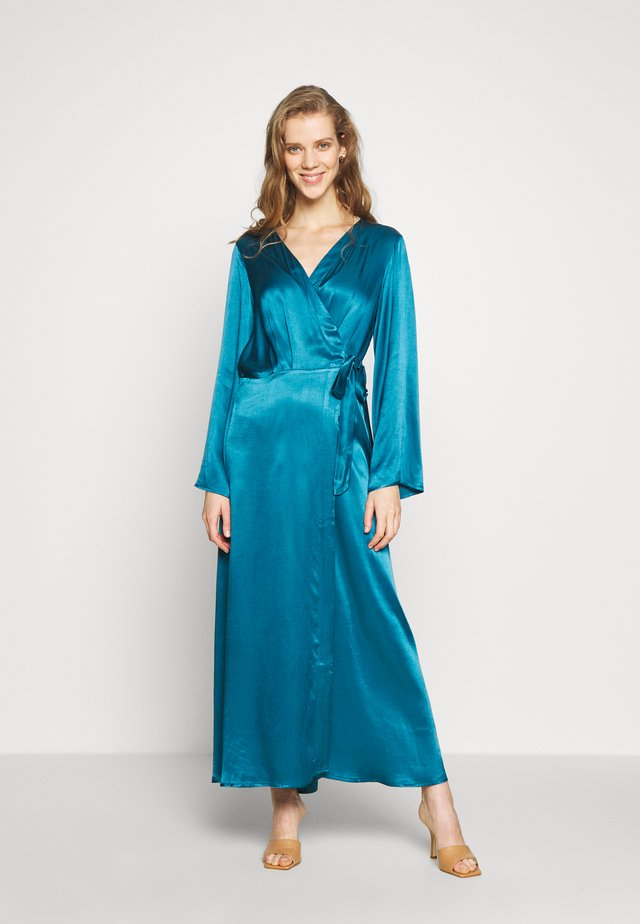 WRAP LONG DRESS - Galajurk - medium blue