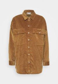 NMFLANNY LONG SHACKET - Summer jacket - toasted coconut