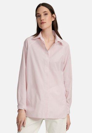 LANGARM - Overhemdblouse - weiß rosé