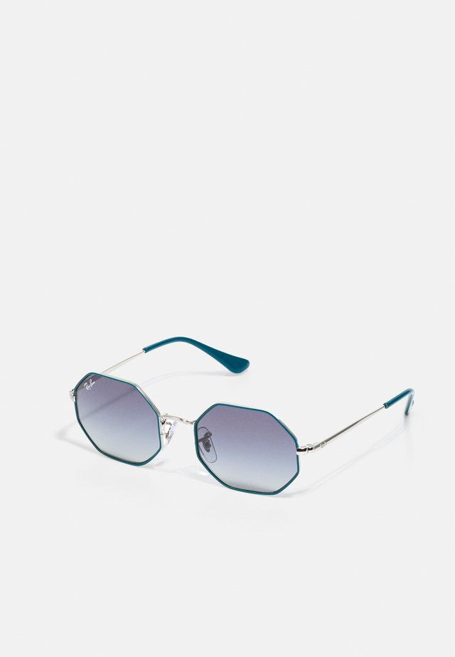 JUNIOR SUNGLASS UNISEX - Sunglasses - silver-coloured/turquoise
