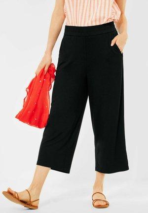 MIT WIDE LEGS - Trousers - schwarz