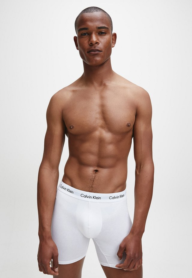 3 PACK - Pants - black / white / grey heather