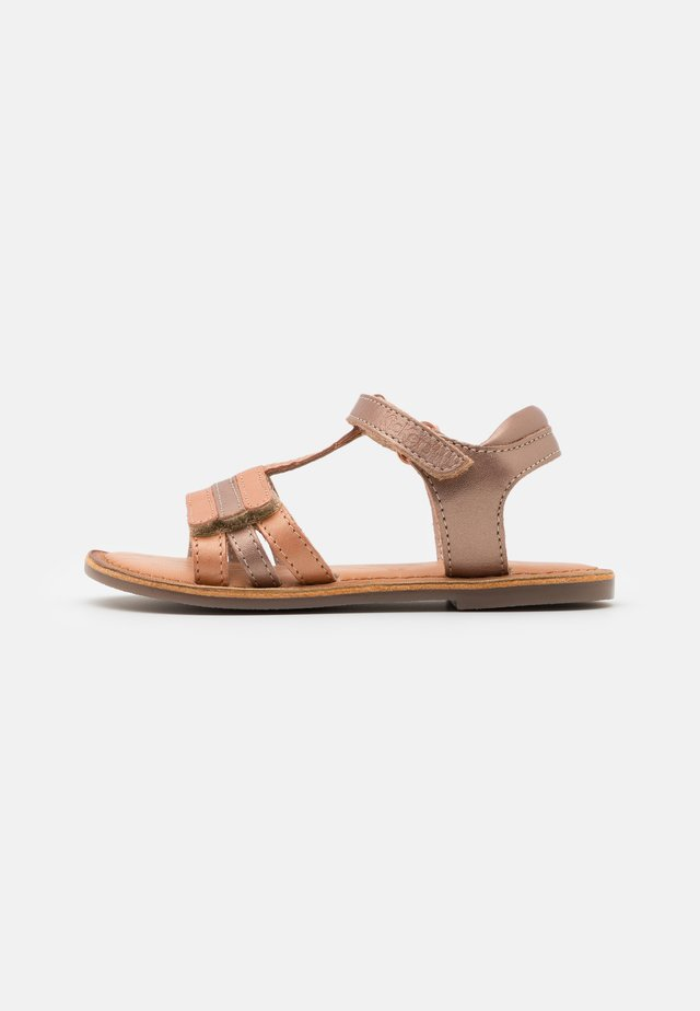 DIAMANTO - Sandalen - orange/rose metallise