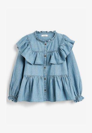 RUFFLE  - Button-down blouse - blue denim