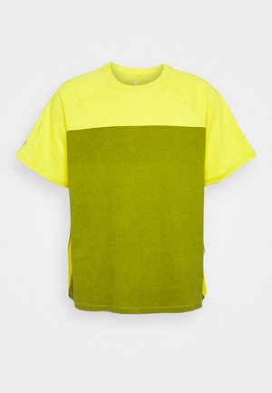 SHAPES TRIANGLE GRAPHIC TEE UNISEX - T-shirts print - bold citron