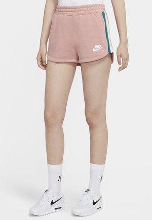 Korte broeken - rust pink/white