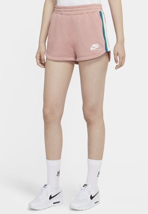 kurze Sporthose - rust pink/white