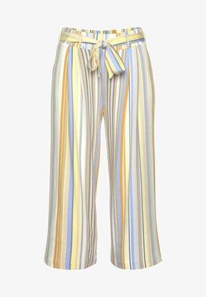 CULOTTE - Trousers - gelb-blau-gestreift