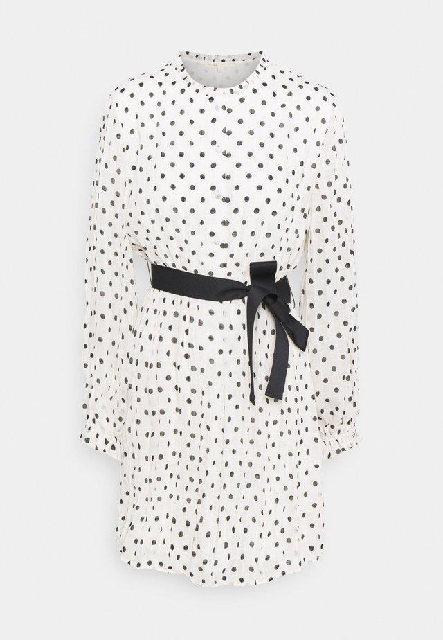 RELY - Korte jurk - blanc/noir