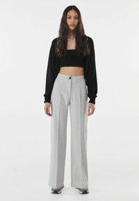 Bershka - Trousers - light grey - 1