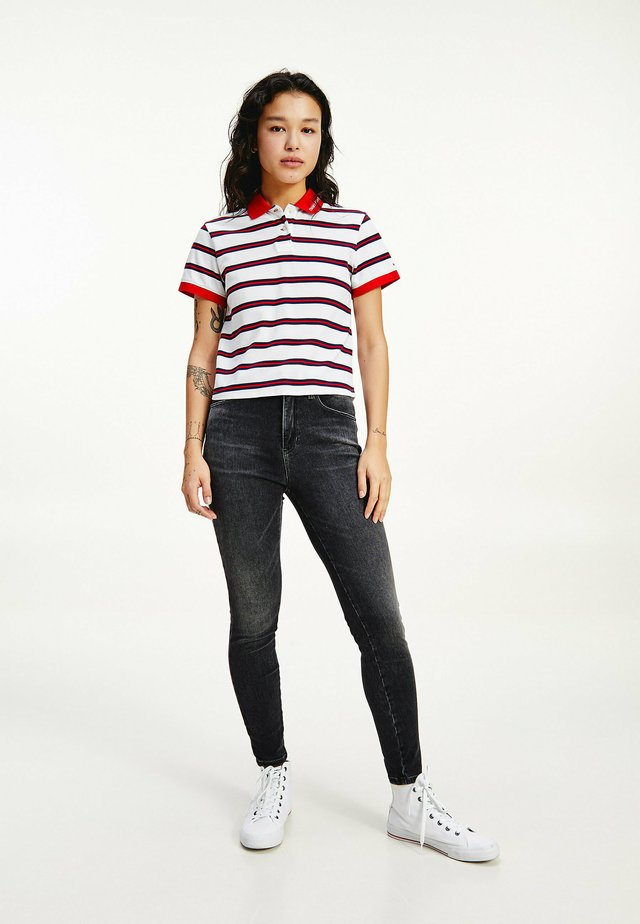 CONTRAST COLLAR CROPPED  - Poloshirt - white / multi
