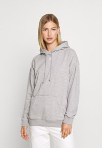adidas Originals - TREFOIL ESSENTIALS HOODED - Mikina s kapucí - medium grey heather - 0