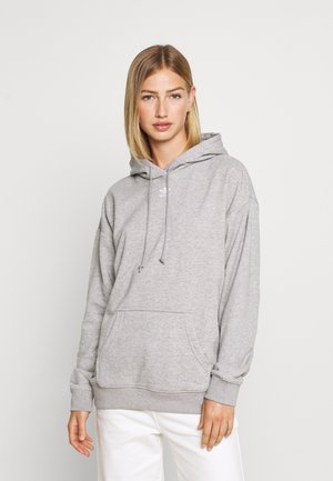 TREFOIL ESSENTIALS HOODED - Bluza z kapturem - medium grey heather