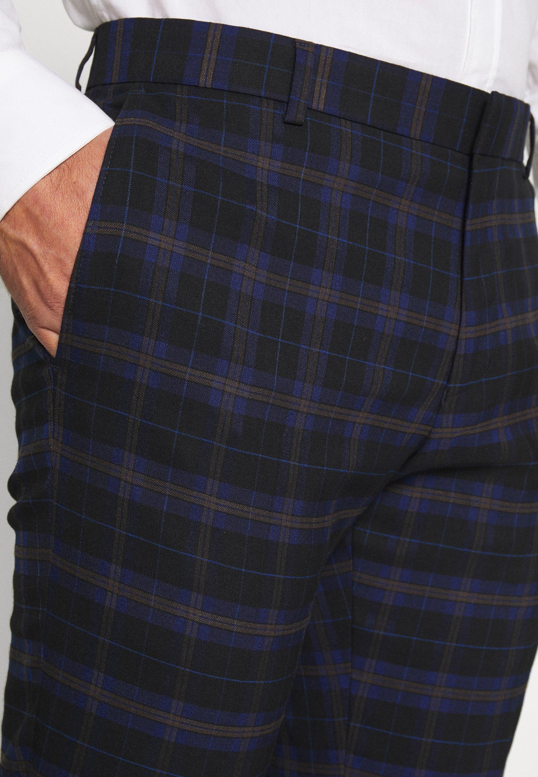 Professionel Seneste Samlinger Tøj til herrer Ben Sherman Tailoring CHECK SUIT Jakkesæt dark blue QvvFM2 pkRwi3