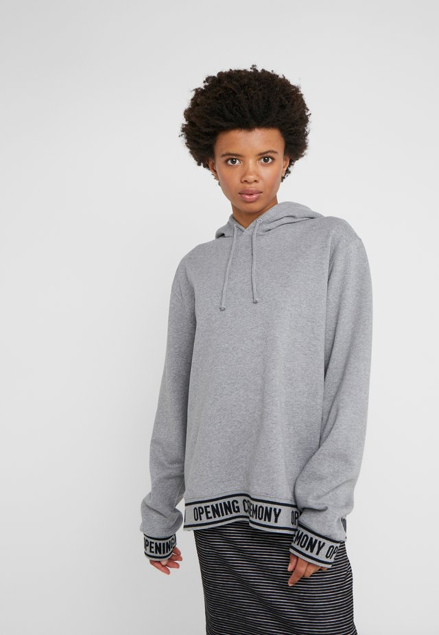 ELASTIC LOGO HOODIE - Sweat à capuche - heather grey