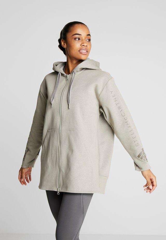 OVERSIZED HOOD - Zip-up hoodie - grey