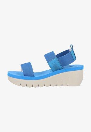 Sandalen met sleehak - azure