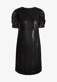 KARL LAGERFELD - SEQUINS DRESS WITH PUNTO - Cocktail dress / Party dress - black - 4