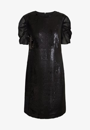 SEQUINS DRESS WITH PUNTO - Sukienka koktajlowa - black