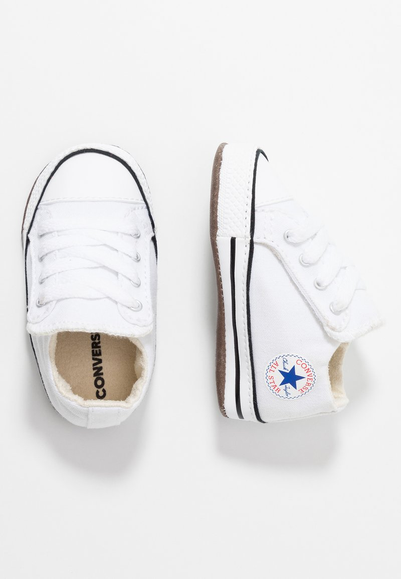 Converse - CHUCK TAYLOR ALL STAR CRIBSTER MID - First shoes - white/natural ivory