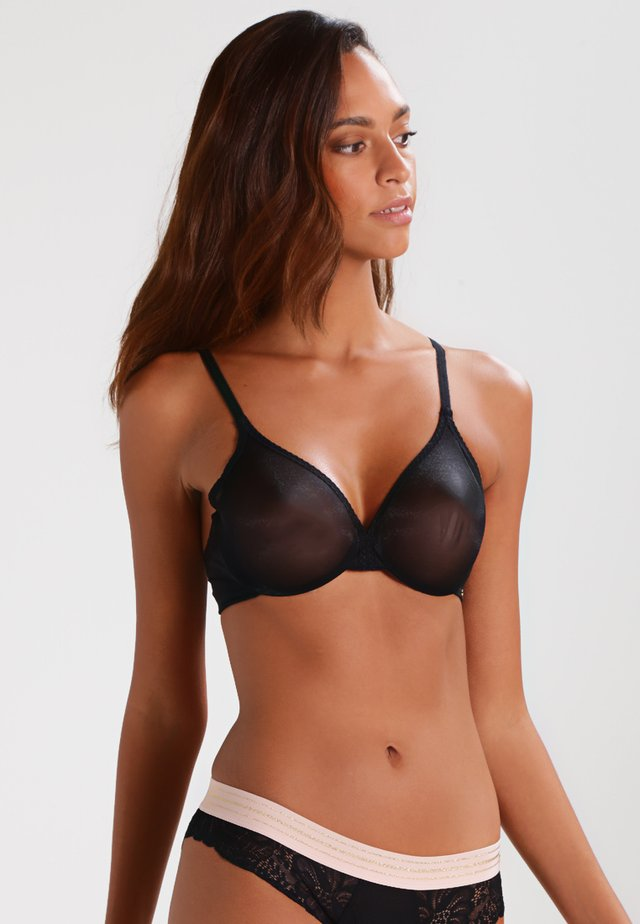 GLOSSIES BRA - Bygel-bh - black