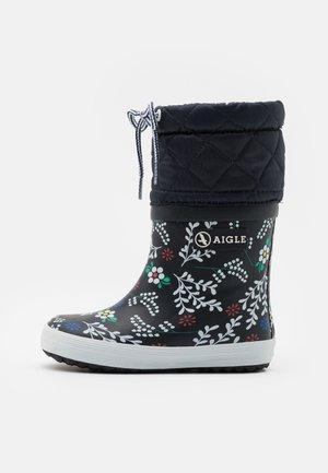 GIBOULEE PRINT - Stivali di gomma - dark blue