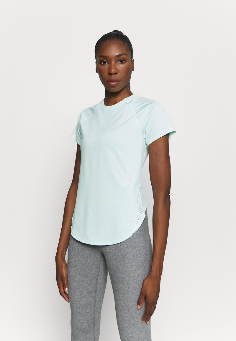 Under Armour - SPORT HI LO  - Basic T-shirt - seaglass blue