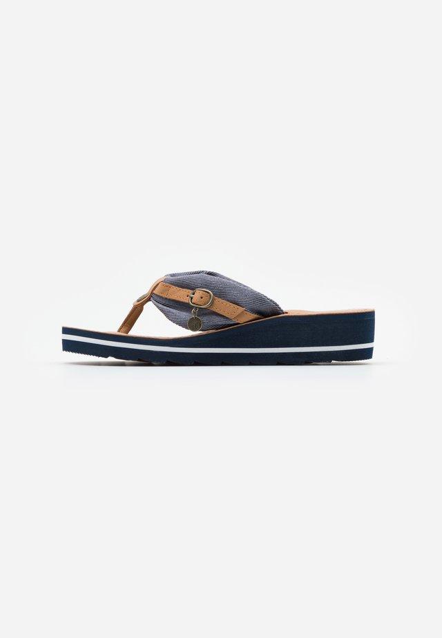 SLIDES - T-bar sandals - navy
