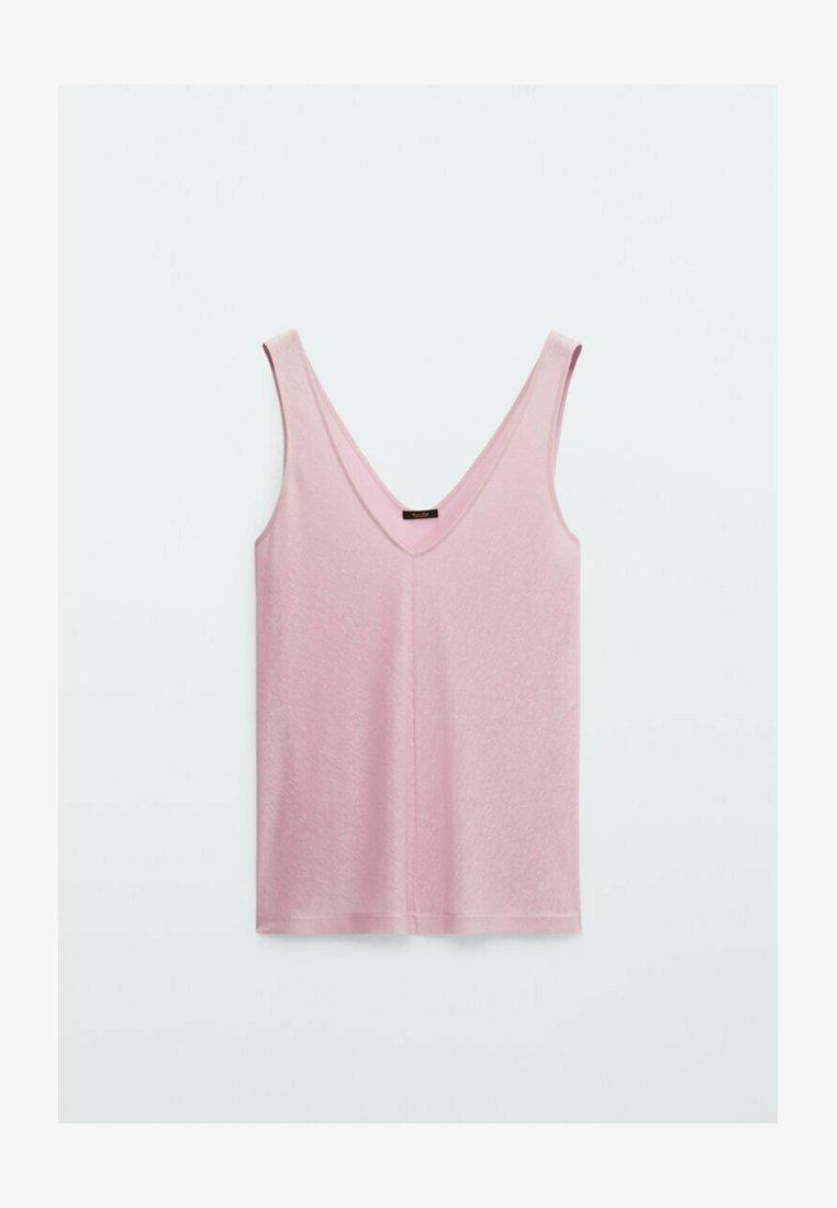 Massimo Dutti - MIT V-AUSSCHNITT - Top - light pink