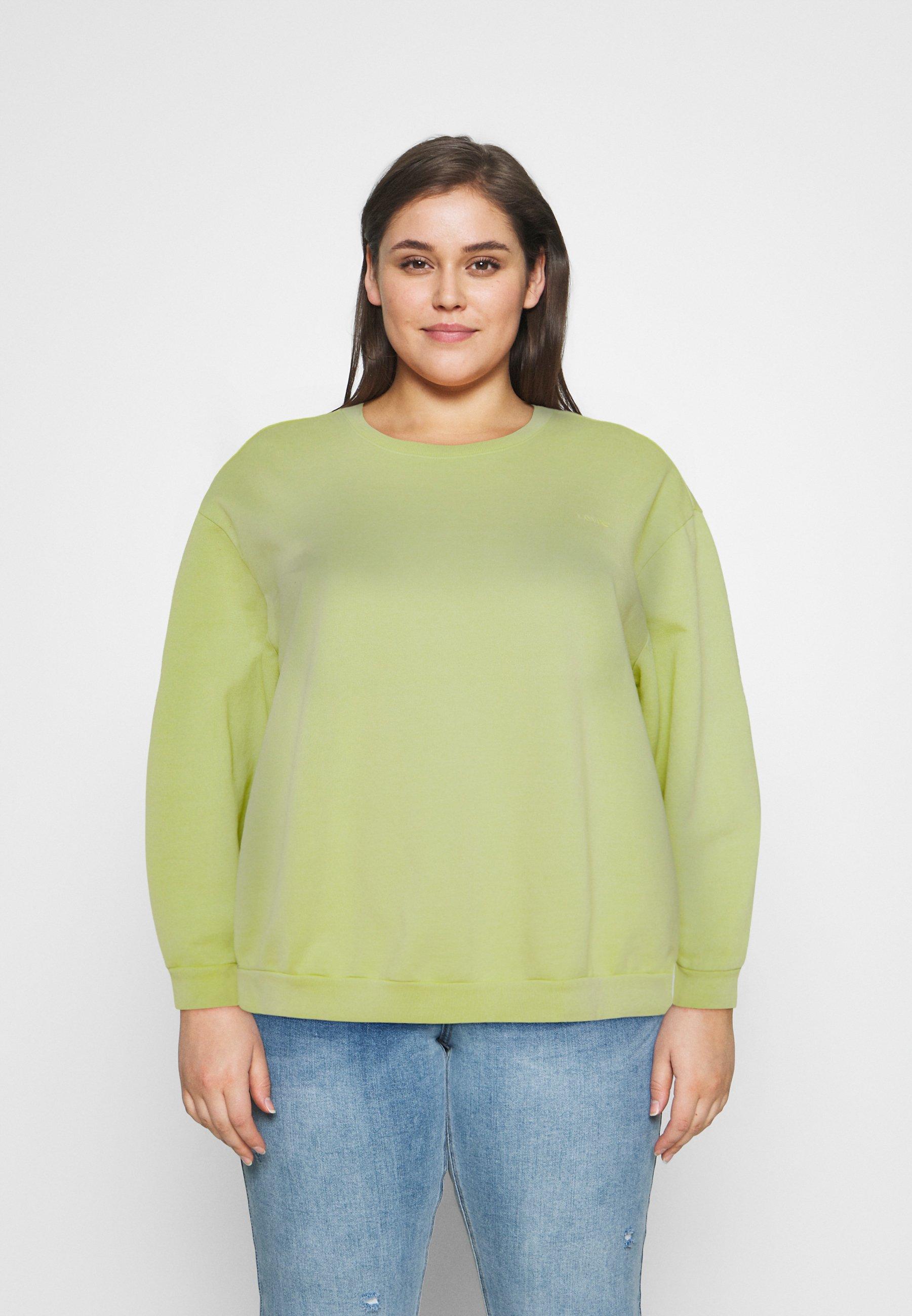 Women MELROSE SLOUCHY CREW - Sweatshirt - shadow lime