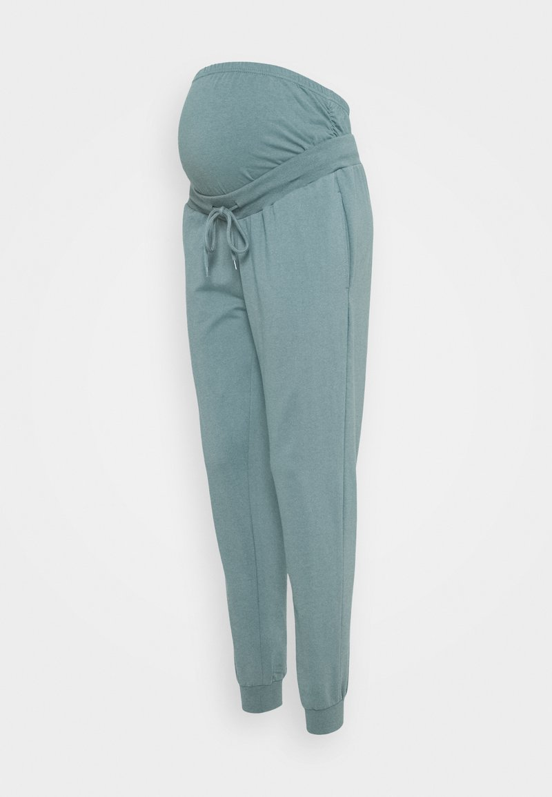 Anna Field MAMA - SLIM FIT JOGGERS - OVERBUMP - Tracksuit bottoms - teal