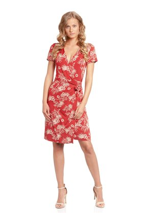 HAWAII HULA  - Day dress - rot allover