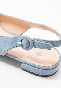 Maripé - Slingback ballet pumps - light blue - 2