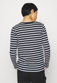 Tommy Hilfiger - CANDICE ROUND - Long sleeved top - breton white/desert sky - 2