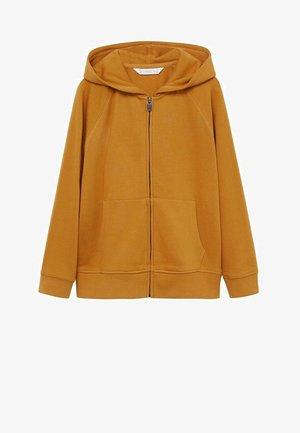 Zip-up hoodie - mosterd
