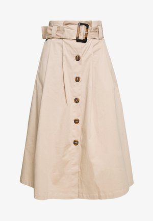 YASTALISA MIDI SKIRT  - Pencil skirt - light taupe
