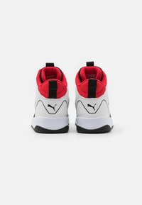 Puma - BACKCOURT MID UNISEX - Vysoké tenisky - white/black/high risk red/silver - 2