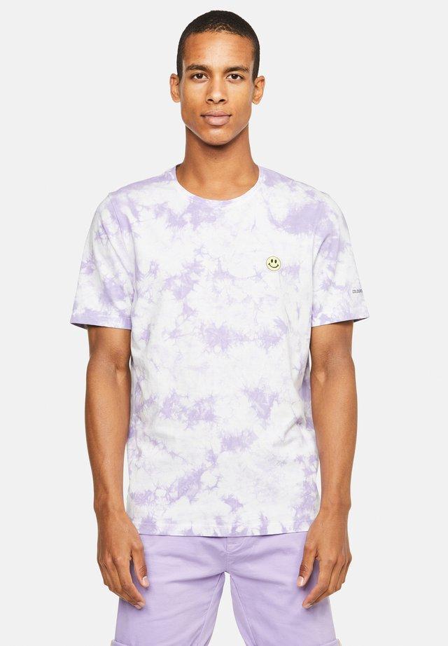 T-shirt con stampa - violett