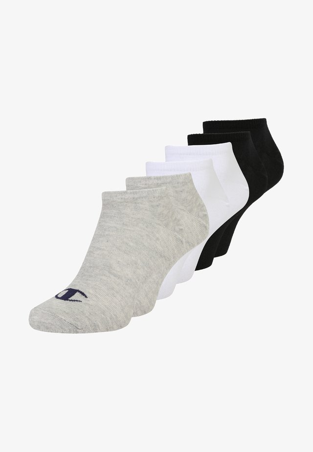 6 PACK - Calcetines tobilleros - grey/white/black